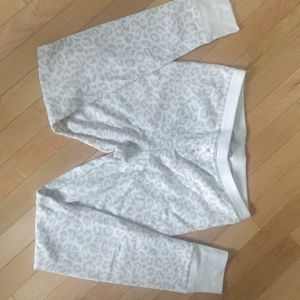 White leopard thermal pants